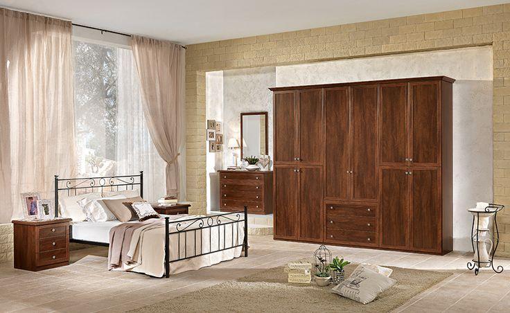 Cerchi una camera da letto dallo stile classico? Cecilia effetto noce fa al caso tuo.