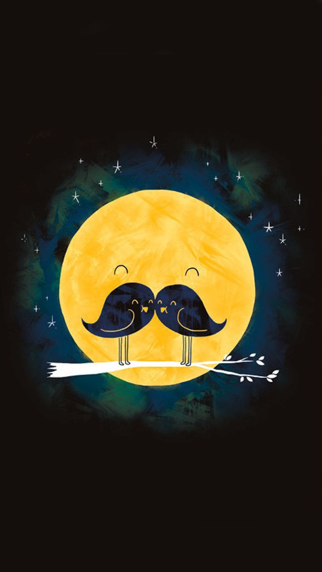 Moonstache wallpaper for iPhone 5/5S - Free download from mobile9.com