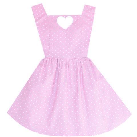 Cotton Candy Heart Cutout Dress