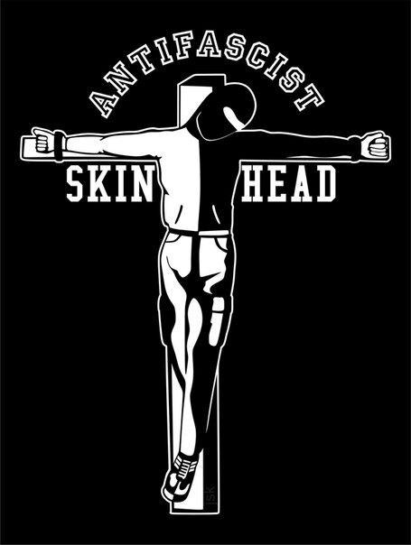 Crucified Antifascist Skinhead