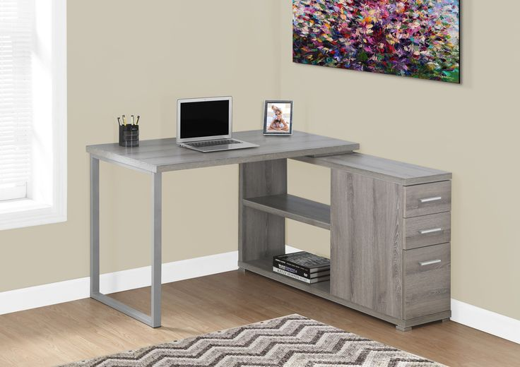 Computer Desk - Dark Taupe Left Or Right Facing Corner