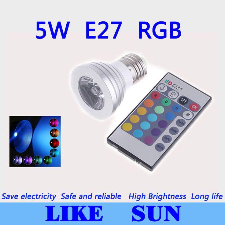 Compare Price Free shipping 10pcs/lot 5W RGB Lamp 16type colors E27 AC95-265V LED Light Spotlight Bulb Lamp with Remote Controller #Free #shipping #10pcs/lot #Lamp #16type #colors #AC95-265V #Light #Spotlight #Bulb #with #Remote #Controller
