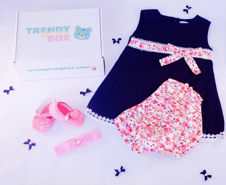 A look an Aprils Trendy Baby Box for Girls.  Every month we will send an entire outfit consisting of 3-5 individual pieces
