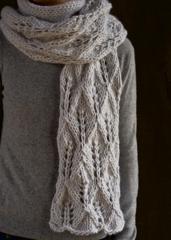 Free Knitting Pattern: Lovely Leaf Lace Scarf in Lanecardate Feltro