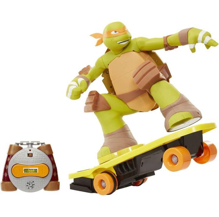 Teenage Mutant Ninja Turtles~Remote Control Skateboarding Mikey~New Free US Ship #JAKKSPacific