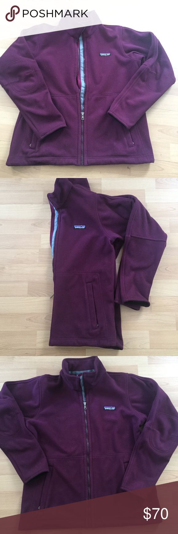 Patagonia Synchilla Women's coat Dark plum color Patagonia Synchilla jacket. Fleece jacket preowned in great shape. Patagonia Jackets & Coats