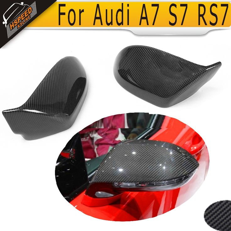 S7 Carbon Fiber rear mirror Covers caps For Audi A7 S7 RS7 2011 UP Without Side Assist