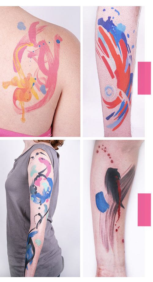 Gorgeous watercolor tattoos. If I were to ever get a tattoo - it would be something like this.