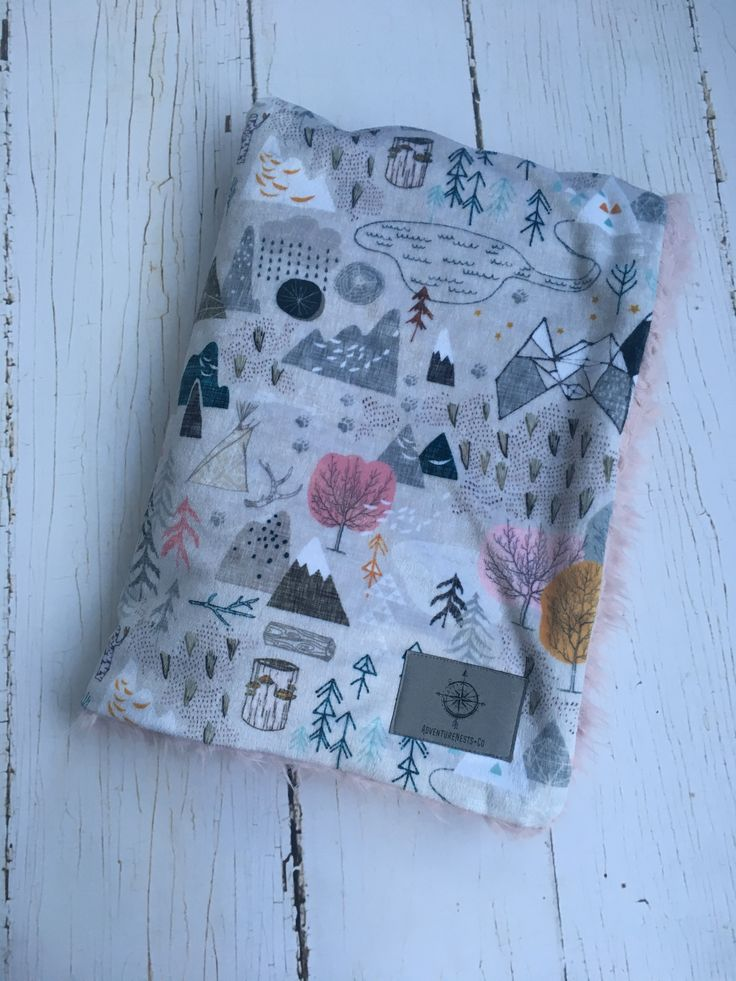 Woodlands girl nursery baby blanket