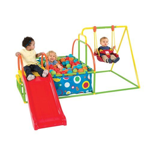 Toddler Swing Set Slide Amp Ball Pit Activity Gym One Step