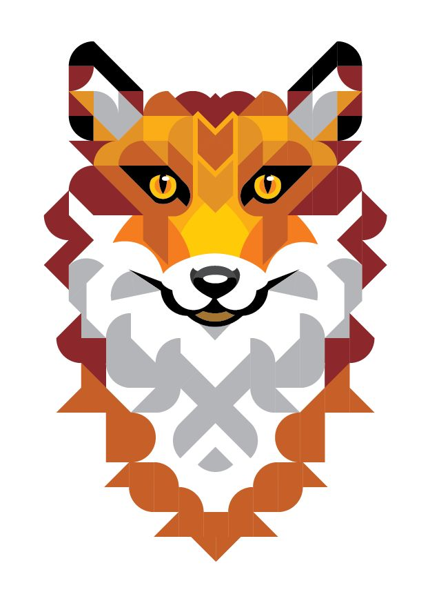 Geometric fox by joanna webster from sticker studio fox stickerstudio geometricart