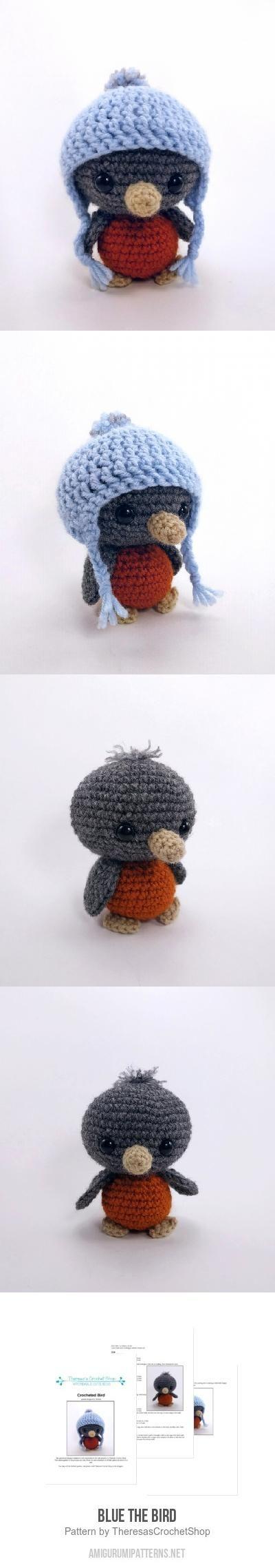 Blue The Bird Amigurumi Pattern - crochet pattern - by Theresa's Crochet Shop