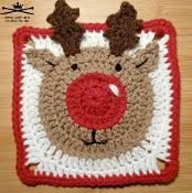 Rudolph the Reindeer Afghan Square - via @Craftsy