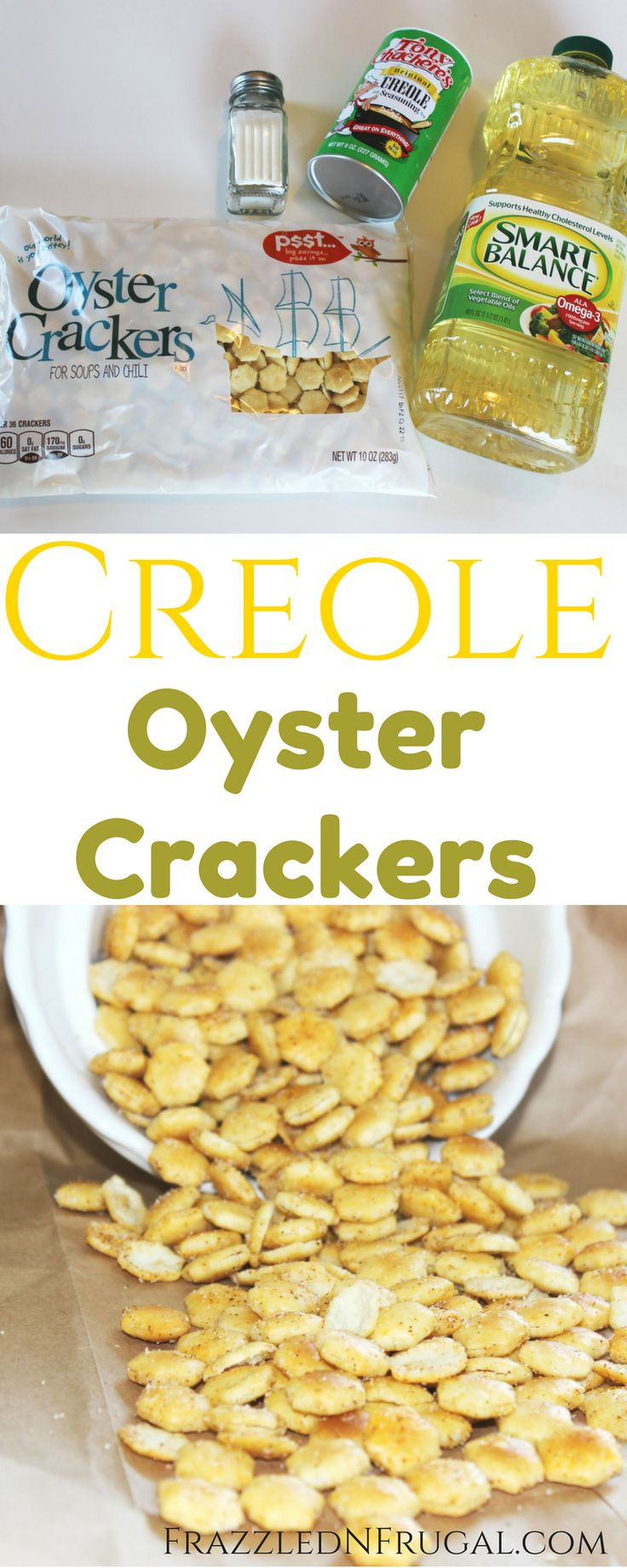 Creole Seasoned Oyster Crackers Recipe - This easy to make snack is perfect for game day, Mardi Gras celebration, parties or road trips!