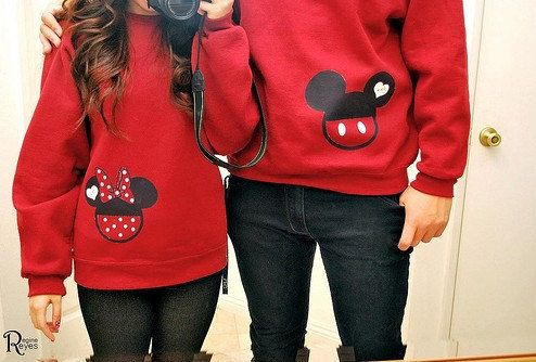 Mickey/Minnie Mouse couple hoodie