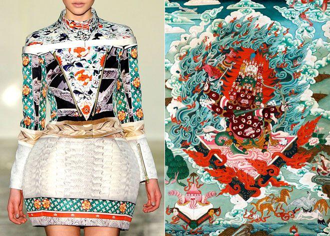 pattern. colour. : Katrantzou A W, Oriental Prints Fashion, Katrantzou Aw, Mary Katrantzou, Fashion Art, In 2011, High Schools Fashion, Moss Colors, Katrantzou Pretend