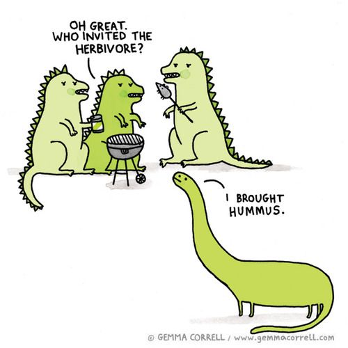 Not that I don't like veggies or hummus but this is too funny. Gemma Correll #Illustration #Cartoon @Heather Cooper-Koziol