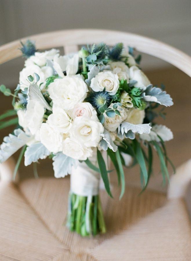 Organic white + green bouquet: http://www.stylemepretty.com/georgia-weddings/savannah/2016/07/11/modern-and-chic-boutique-hotel-savannah-wedding/ | Photography: Rach Loves Troy - http://www.rachlovestroy.com/