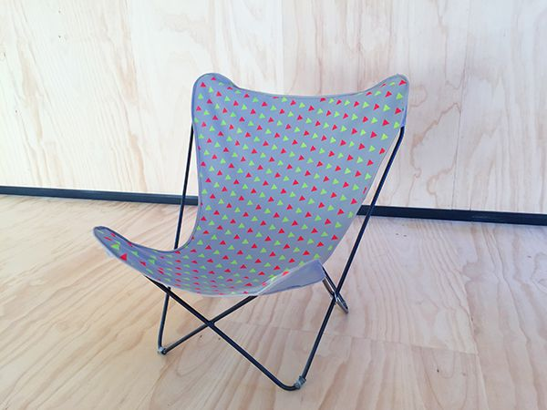 TheButterflyChair.com.au custom pattern printed for us by Dale at Studio Antic onto light grey Australian made heavy weight canvas