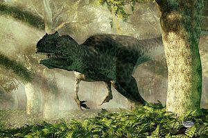 Digital Art - Allosaurus In A Forest by Daniel Eskridge