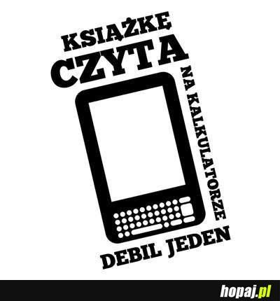 Też lubicie sobie poczytać na kalkulatorze? ;) // Do you also like to read on a calculator? ;)