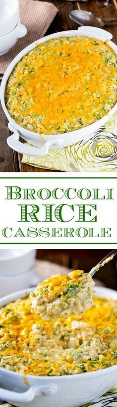 Quick and easy Broccoli Rice Casserole. So creamy and cheesy! Just like you remember from childhood.