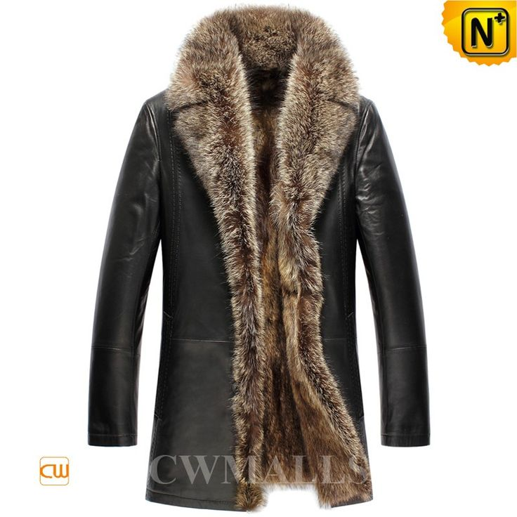 CWMALLS Mens Raccoon Fur Leather Coat CW857367 Luxurious style raccoon fur lined coat made of natural raccoon fur lining and supple sheepskin leather shell, designer raccoon fur trim and button front leather coat offers rich warmth and softness. www.cwmalls.com PayPal Available (Price: $1817.89) Email:sales@cwmalls.com