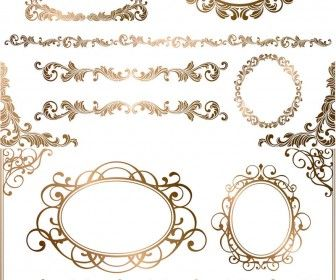 Baroque Floral Frames Corners And Borders Vector Free
