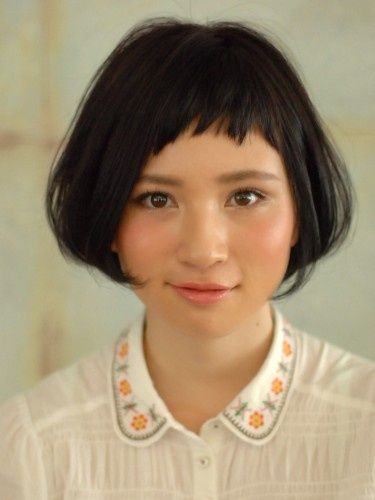 Be brave and add baby bangs to your bob to add a younger, more modern feel to a timeless classic                                                                                                                                                                                 More