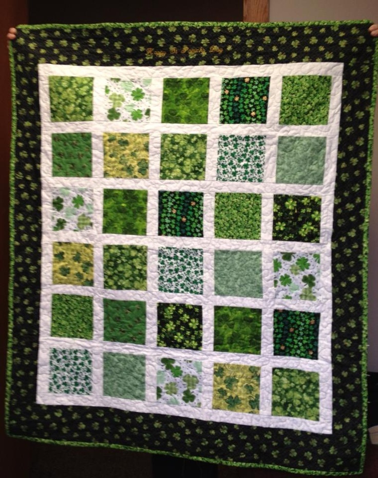 St Patrick Day quilt