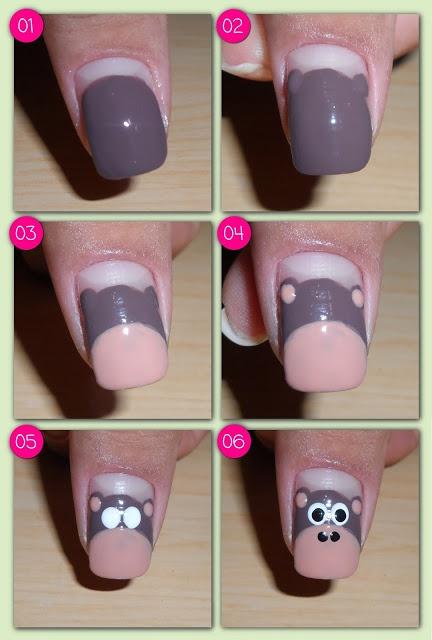iEsmalte: How to do Monkey Nail Art