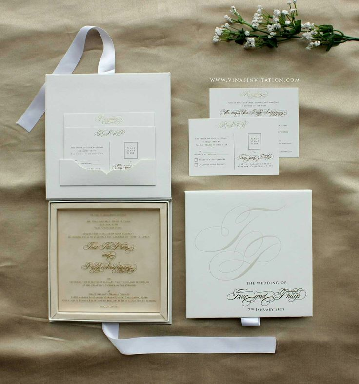 Acrylic invitation Wedding invitation Modern concept Wedding