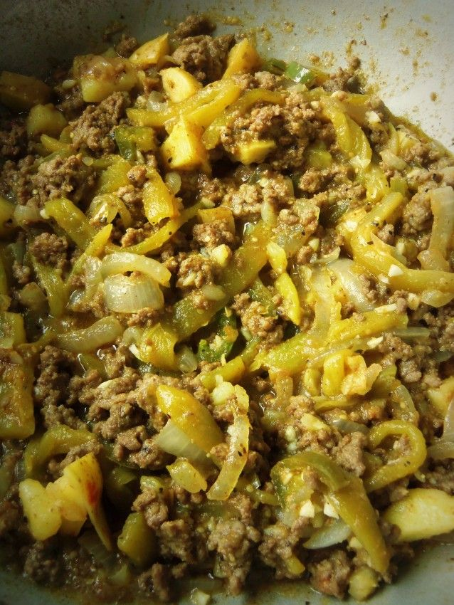 Chile Verde Beef Picadillo | Hispanic Kitchen