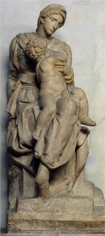 MICHELANGELO Buonarroti (1475-1564) - Medici Madonna, 1531