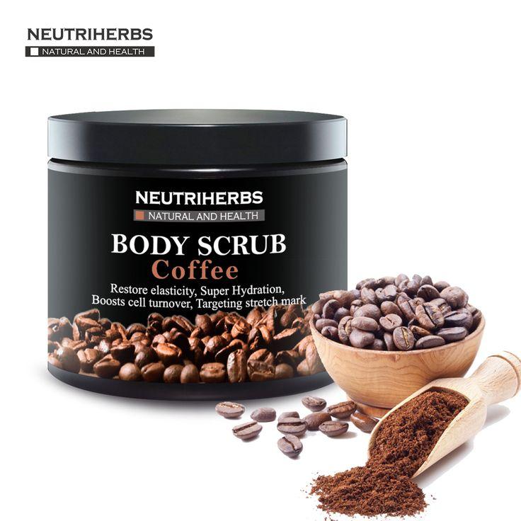 Neutriherbs 커피 바디 스크럽 코코넛 천연 오일 바디 스크럽 각질 미백 보습 감소 셀룰 라이트 200 그람/몫