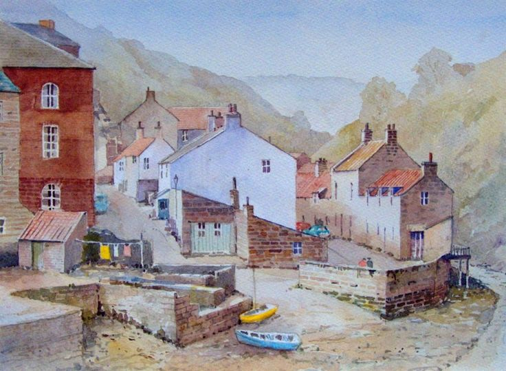 Staithes from footbridge by Malcolm Coils 10,000 th pin