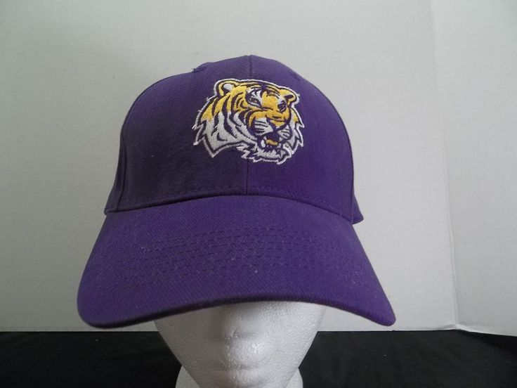 LSU Tigers Hat Adjustable Strap Cap NCAA Louisiana State University  #LSUTigers
