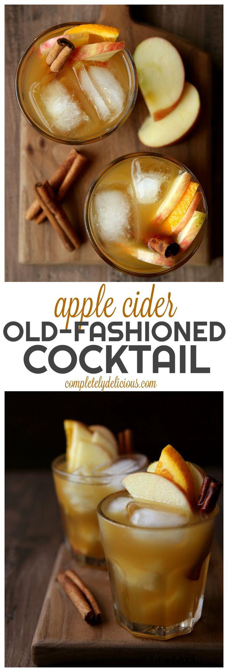Apple Cider Old-Fashioned Cocktail