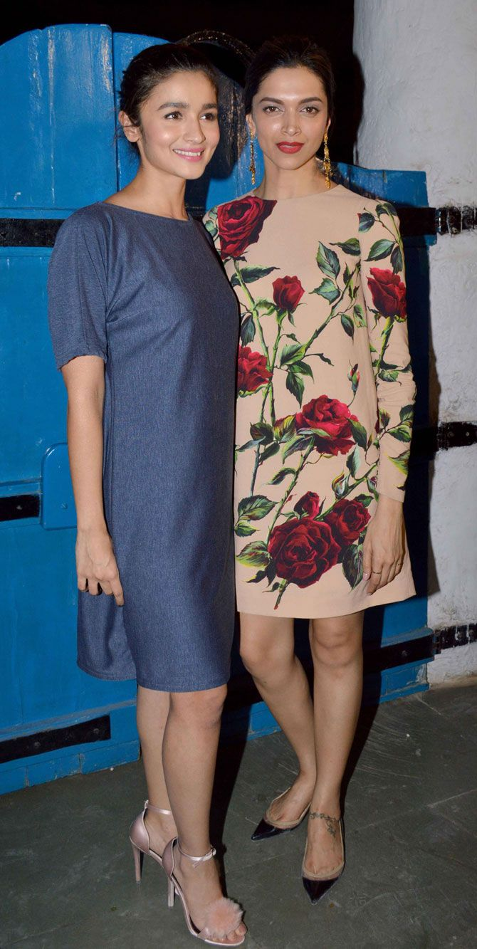 Deepika Padukone with Alia Bhatt at #Tamasha success bash.