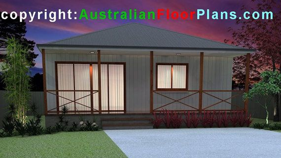2 Bedrooms Cabin Style-Small Home : 74WH by AustralianHousePlans