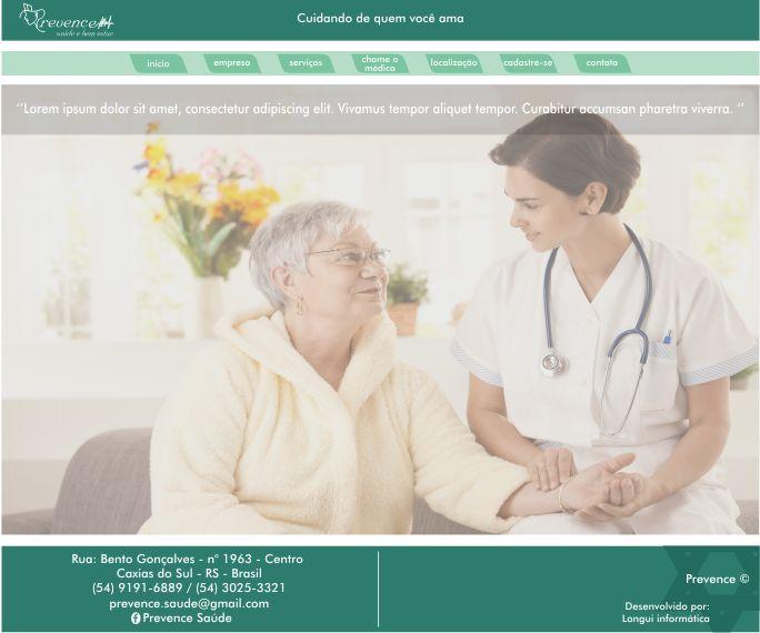 Prevence Saúde - Site - html - css - php