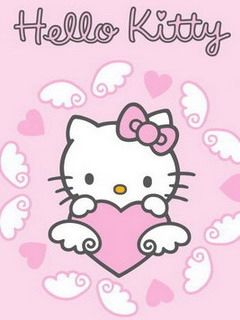 Moving 3D Hello Kitty Screensaver | Cute Hello Kitty Cell Phone Wallpapers 240x320 Mobile Phone Hd ...