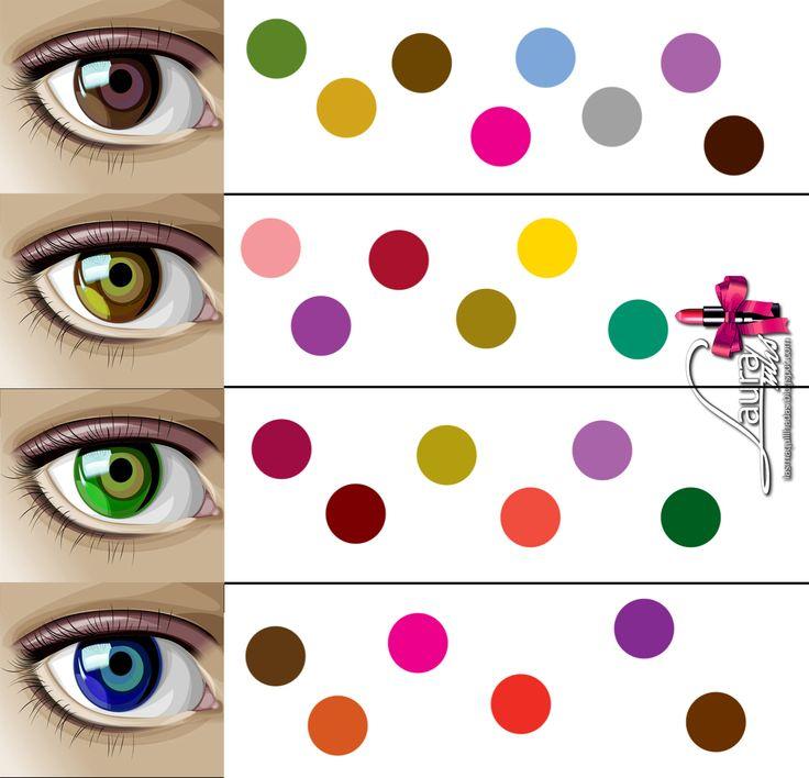 Colores resaltar ojos marron verde avellana azul maquillaje