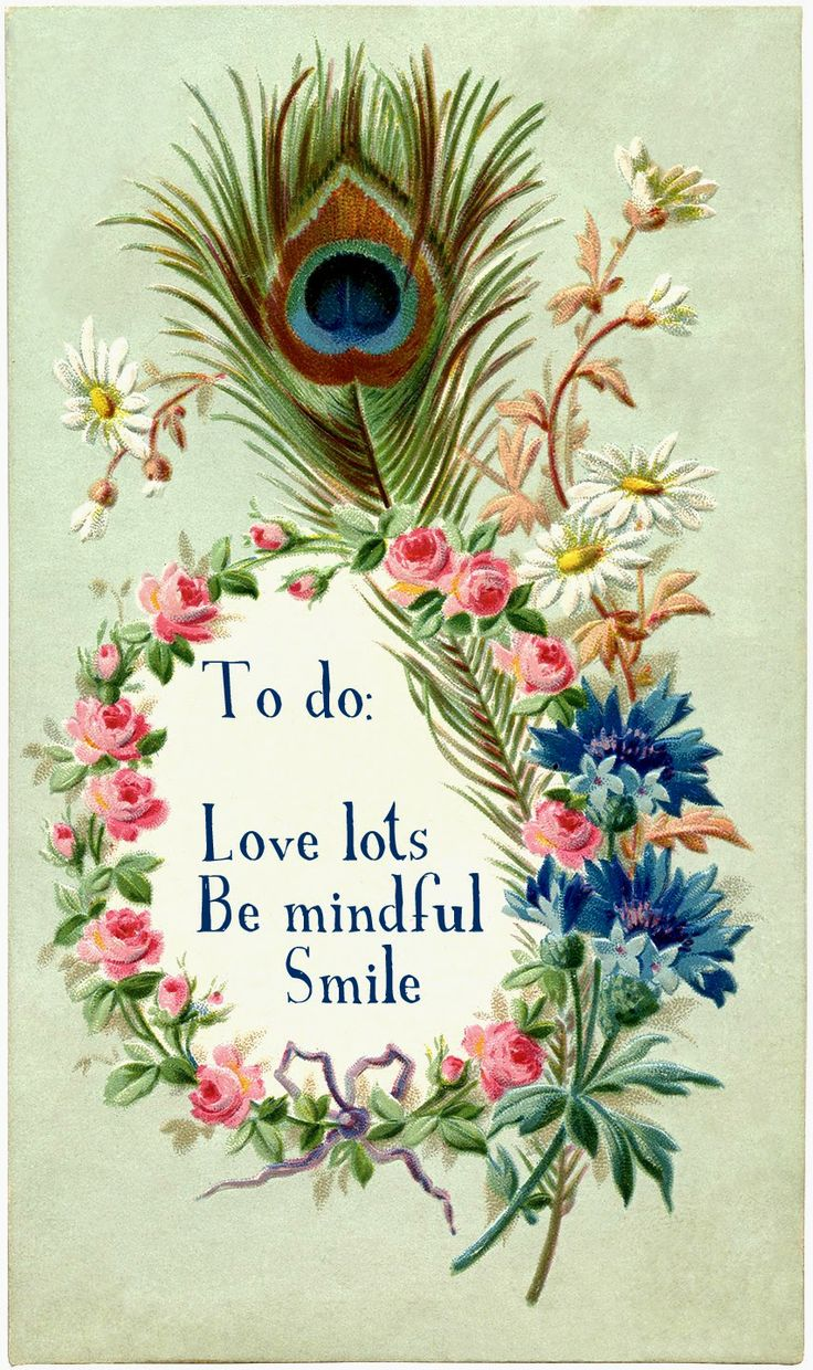 To do: Love lots, Be mindful, Smile.
