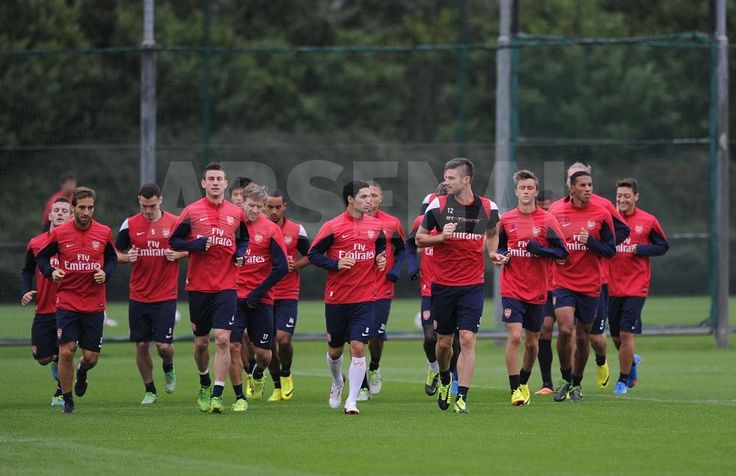 Team in Training Before Stoke Match.