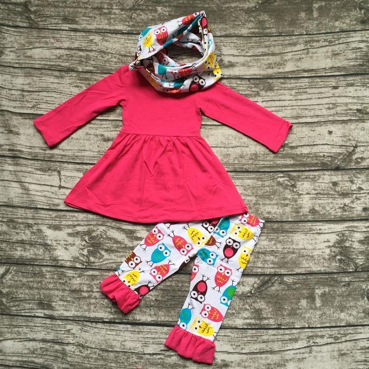Colourful Owl Outfit 3PC
