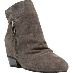 Naya Fillie Ankle Boot - Taupe Velour Suede Leather with FREE Shipping & Exchanges. Fillie is a slouch ankle boot with dual zipper and snap closure. Hidden
