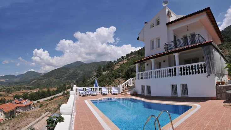 8 Bedroom Villa in Yesiluzumlu to rent from £550 pw, with a private pool. Also with balcony/terrace, Fireplace, air con, TV and DVD.