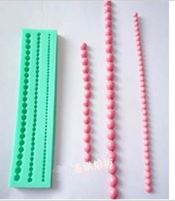 DIY Baking Tools / pearl-shaped silicone resin molds Fimo clay fondant cake decorating mold tools