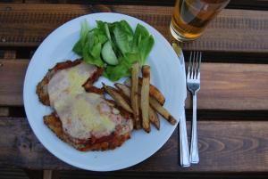 Chicken Parma and a Pot - Australian Pub Grub